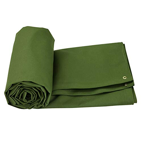 Heavy Duty Canvas Green, Waterproof, Great for Canopy Tent, Boat, RV or Pool Cover (Color : 3M×3M)