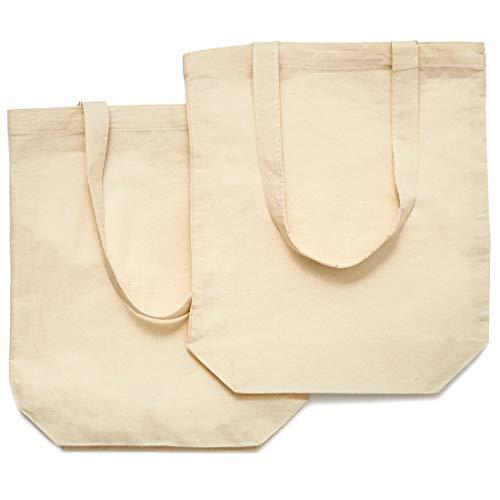 Juvale Set van 10 blanco katoenen canvas tassen voor doe-het-zelf ambachten, 13 x 11,5 inch