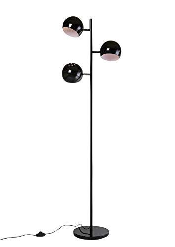 anTes interieur Stehleuchte Orbis schwarz inkl. 3 x 5 Watt LED-Leuchtmittel/Retro-Look/Metall/mehrflammig (Stehlampe Standlampe Standleuchte)