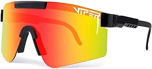 Pit Vipers, occhiali da sole sportivi, da ciclismo, sport all'aperto, protezione UV 400, occhiali da sole per corsa, pesca, alpinismo, golf, escursionismo, attività all'aperto (C7)