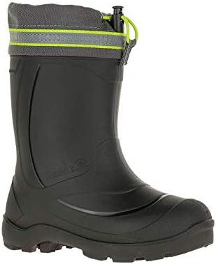 Kamik Kids' Snobuster3 Winter Boots & Knit Cap Bundle