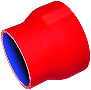 TOYOKING ハイテク シリコンホース ストレート ショート 異径 内径60Φ⇒76Φ 赤色 ロゴマーク無し インタークーラー ターボ インテーク ラジェーター ライン パイピング 接続ホース 汎用品