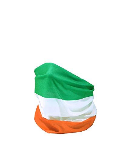 FLAG OF IRELAND IRISH TRICOLOUR FLAG Tridhathach na hEireann RUFFNEK Multifunctional Headwear Neck warmer scarf Face mask
