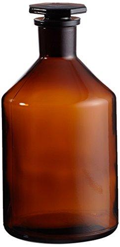 NeoLab E-1452 ecoLab-flessen voor op de borst bruin, 1000ml EH glazen stop, NS29/32
