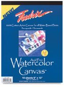 Fredrix Watercolor Canvas Pad 18X24