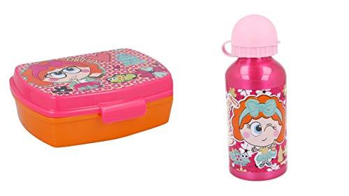 2730; pack vuelta al cole Chamoy Amiguis; compuesto por botella (capacidad 400ml) y sandwichera rectangular; producto libre de BPA
