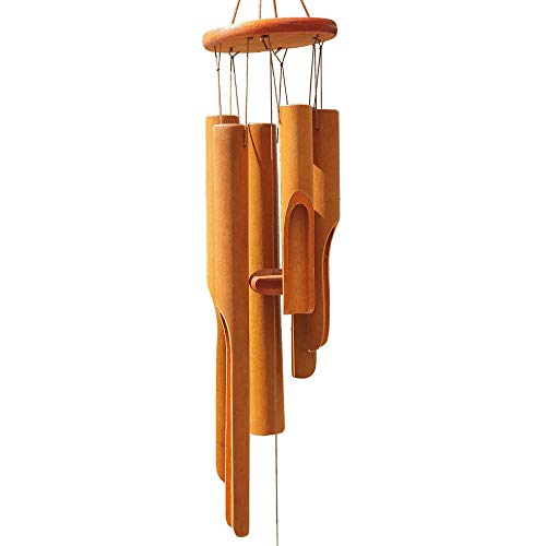 Albacrafts Bamboo Wind Chimes Wooden Wood for Outdoor and Indoor, Zen Wind Chime for Relaxation, Garden, Patio and Home Decor