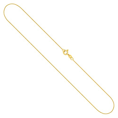 Goldkette, Ankerkette flach Gelbgold 333/8 K, Länge 45 cm, Breite 0.8 mm, Gewicht ca. 0.8 g, NEU