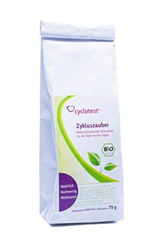 Zykluszauber Zyklustee Frauentee in Bio-Qualität als loser Kräutertee mit Frauenmantelkraut Schafgarbe Brennnesselblätter Melissenblätter 75 g