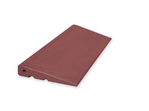 Türschwellenrampe Schwellenrampe 750/45 mm hoch aus Gummigranulat (rot)