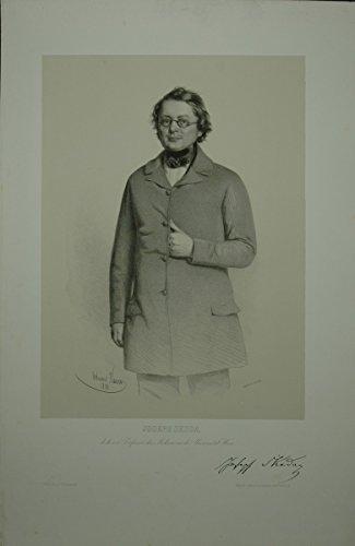 Portrait. Dreiviertelfigur en face. Lithographie auf aufgewalztem Chinapapier von Eduard Kaiser.