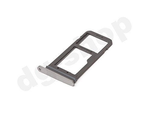 Silver Original Samsung Galaxy S7 EDGE SM-G935F Simkaarten, simkaart, kaart, microSD-houder, tray slede, lade holder slot