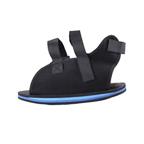 EXCEART Zapato Postoperatorio Botín Médico Ajustable para Caminar Post Cubierta Quirúrgica Del Pie Soporte Ortopédico Del Dedo Del Pie para Fracturas Óseas Rotas Tamaño Negro L