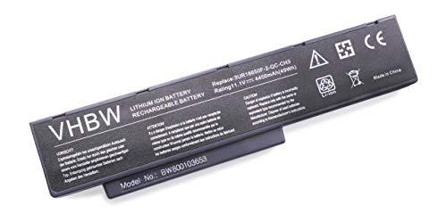 vhbw Batterie LI-ION 4400mAh 11.1V en Noir pour Benq JoyBook A52, A52E, A53, C41, C41E etc, remplace 2C.20770.001, 2C.20770.011, 2C.20C30.001 etc.