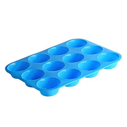 Moule en silicone Cuisson de cuisson Moules en silicone, 12 moules de gâteau en silicone de la cavité Muffin Cuisson Cuisson Cuisson Fondant Cupcake Muffin Moules Moules Cookies Muffin Chocolat Moule