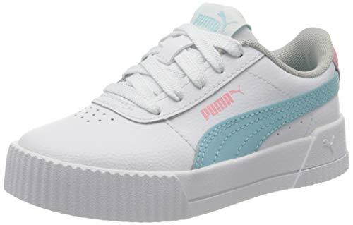 PUMA Carina L PS, Zapatillas para Niñas, Blanco White/Gulf Stream 06, 33 EU