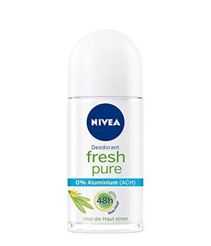 Nivea Fresh Pure Deo-Roller für Frauen, Ohne Aluminium, 6er Pack (6 x 50 ml)