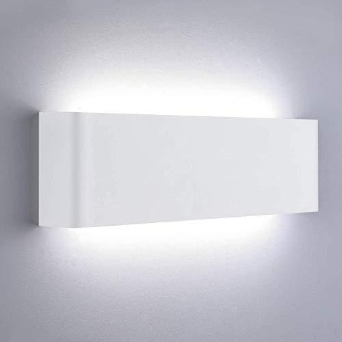 Lightess 16W Apliques de ParedInterior Lámpara de Pared LED Moderna Luz de Aluminio Acrílico Iluminación para Salón Sala de Estar Dormitorio Baño Escalera (blanco frío, blanco)