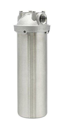 Wasserfilter Gehäuse Edelstahl für Kücheneinbau von Quellklar. Industrie Standard passend für Filterpatronen (10