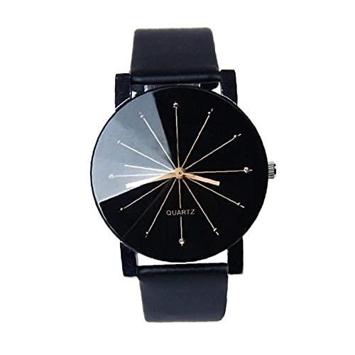 Bao Xiang Mujeres Reloj Movimiento De Cuarzo Analógico Reloj De Cuero Brazalete De Cuero Acero Inoxidable Reloj De Pulsera Causal Negro Relojes a Prueba De Agua