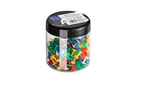Alco-Albert 673B26 - Pinnwand-Nadeln, bunt sortiert, 200 Stück in einer Dose