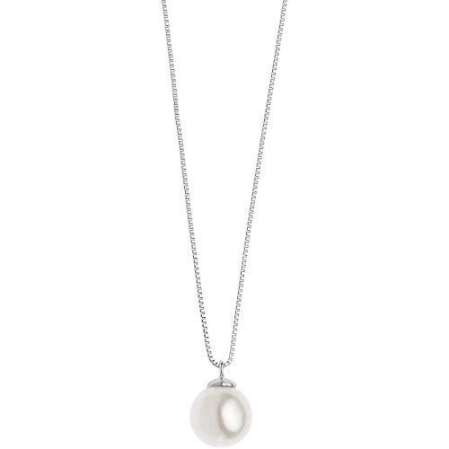Collana Di Comete Da Donna In Oro Bianco Con Perla classico cod. GLP 562