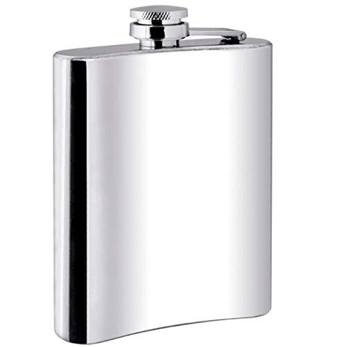 silberkanne Flachmann 12x9x3 cm 198 ml Silber Plated Premium versilbert