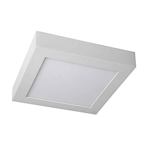 COUSON Plafón LED de Techo Superficie 20W Downlight LED Cuadrado 1020 Lumenes Luz Blanca Fría 6000K Transformador Incluido