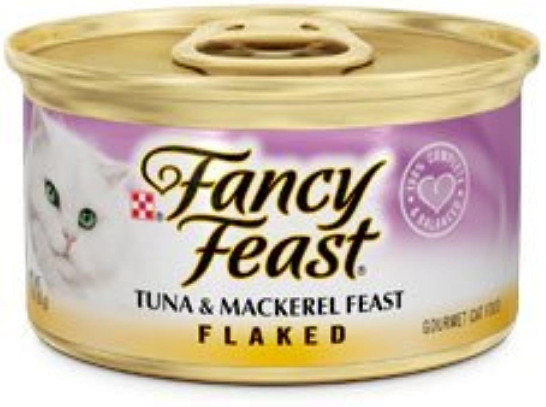 Fancy Feast Flaked Tuna and Mackerel Canned Cat Food 3 oz, case of 24 by Fancy Feast