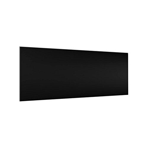 Bilderwelten Crédence en Verre - Colour Black - Panorama, Peinture Murale revetement Mural Cuisine dosseret de Cuisine Impression sur Verre Fond de Cuisine, Dimension: 40cm x 100cm