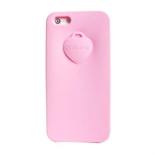 Cover Custodia Case Telefono Cellulare Silicone Ops Rosa iPhone 5 5S