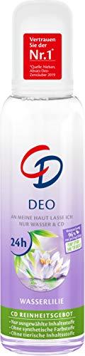 CD Deo Zerstäuber 'Wasserlilie', 75 ml, Deodorant ohne Aluminiumsalze, 24 h langanhaltender Schutz, für empfindliche Haut geeignet, vegane Körperpflege