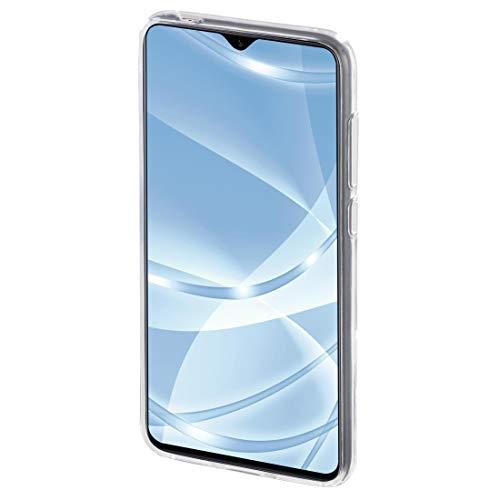 Hama Schutzhülle Crystal Clear (für Samsung Galaxy A40, TPU Termoplastik (Put), kompatibel mit kabellosem Laden, transparent