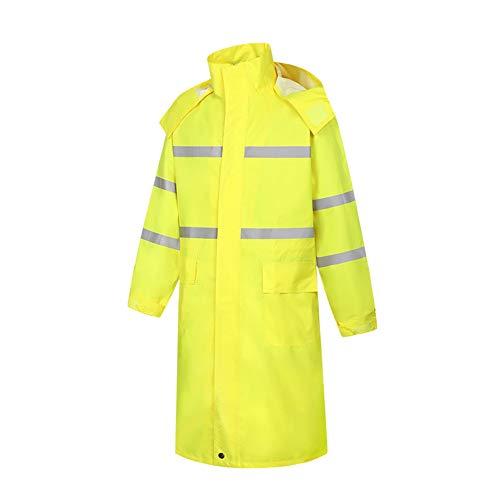 Meijunter Gelb Sichtweite Reflektierend Poncho Schützend Wasserdicht Lange Siamesische Regenjacke Mantel Verkehr Steuerung Warnung Arbeitskleidung