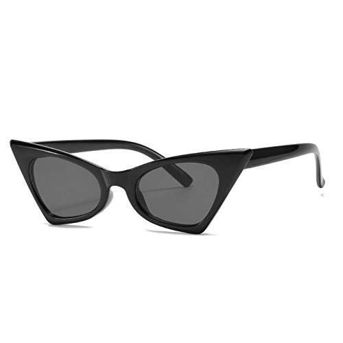 ZZOW Gafas De Sol De Lujo con Forma De Ojo De Gato Pequeño A La Moda para Mujer, Gafas De Sol con Forma Triangular De Color Gris Y Té para Hombre