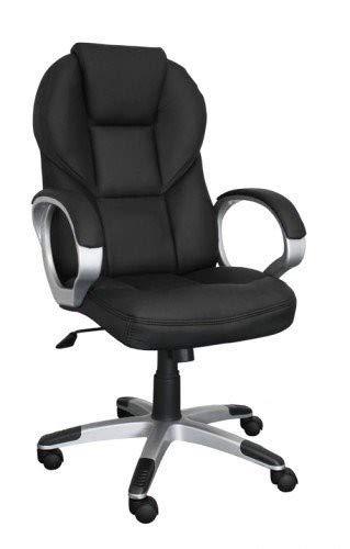 AMSTYLE Bürostuhl MATERA Bezug Kunstleder Schwarz Schreibtischstuhl Design X-XL 120 kg Chefsessel Wippfunktion ergonomisch Polster Drehstuhl hohe Rücken-Lehne höhenverstellbar mit Armlehnen Hochlehner