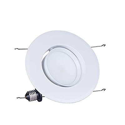 JJC Recessed Lighting 4 Inch/6 Inch LED COB Dimmable Gimbal Downlight Energy Saving Ceiling Lights Energy Star Certified&ETL-Listed