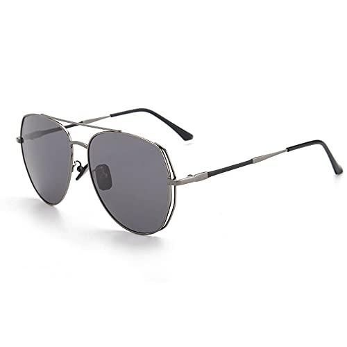 Anti-UV Gafas De Sol para, Hombres Moda ProteccióN para ConduccióN Gafas De Deportes Al Aire Libre De Pesca De Moda Regalo De San ValentíN (Color : Gun Frame Black Gray)