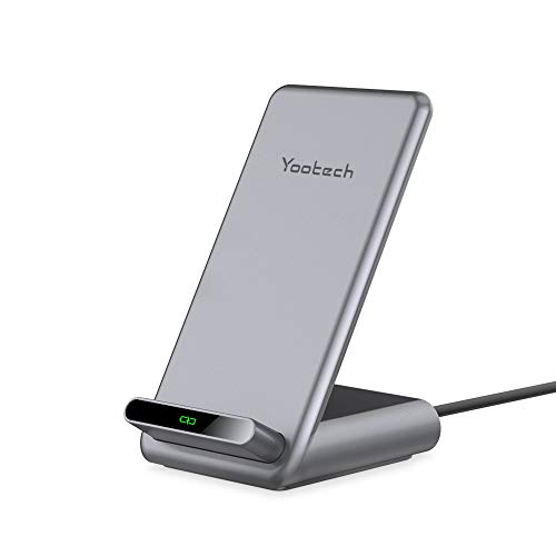 Yootech 15W Max. Fast Wireless Charger,Qi kabelloses Ladegerät Induktion ladestation für iPhone 11/11 Pro/11 Pro Max/Xs MAX/XR/XS/X/8/8 Plus, Samsung Galaxy S20/Note 10/S10/S9/S8/V35/G8/Pixel 4XL usw.