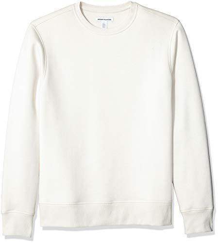 Amazon Essentials Long-Sleeve Crewneck Fleece athletic-sweatshirts, brown (Oatmeal Heather), 44-46 (Small)