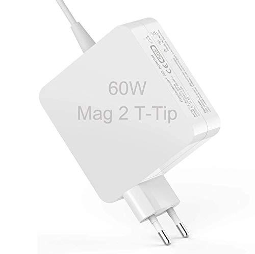 Mac Book Pro 60W AC Cargador con Conector, Caldera, Adaptador Corriente con Punta en T para Mac Book 60 W, Cargador Repuesto Compatible con Mac Book Pro 11 y 13 Pulgadas (después Finales 2012)