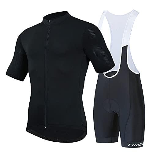 Maglia Da Ciclismo A Manica Corta Da Uomo Abbigliamento Da Ciclismo Estivo Traspirante, Traspirante E Ad Asciugatura Rapida Con 9D Gel Cuscino Traspirante (D2,M)