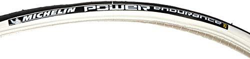 MICHELIN Power Endurance Pneu de vélo Route Mixte Adulte, Blanc, 700 x 23C