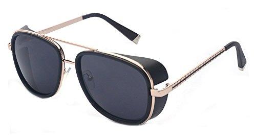 Outray estilo retro Steampunk Unisex inspirado polarizado UV400 gafas de sol de...