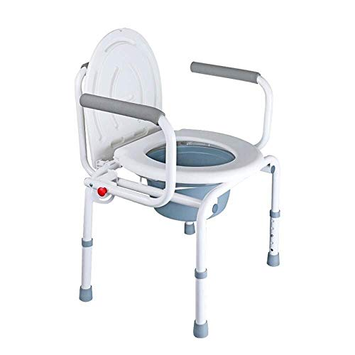 Bathroom Wheelchairs RRH Bedside Commodes Wheelchair Toilet Home Mobile Elderly Toilet Foldable Maternity Bathroom Bathtub, White
