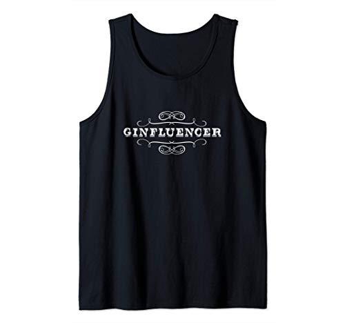 Gin Design Ginfluencer Ginebra Camiseta sin Mangas