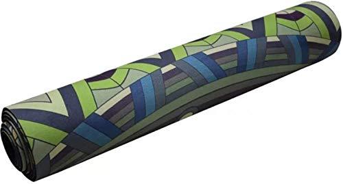 Esterillas Yoga Antideslizante Tela de Goma de Goma Natural Cómodo Astillero Antideslizante Estera de Ejercicios Fitness Yoga Mat mwsoz
