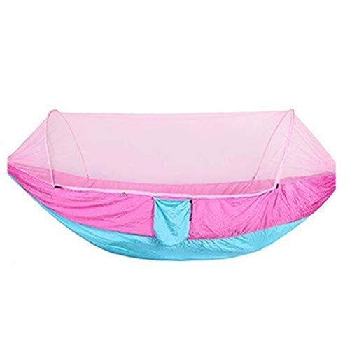 Camping Hangmat Buiten Enkel Dubbele Parachute Hangmat met Muggennetje Ademende Stof Lading Bearing Sterke Camping Toerisme Beach Binnenplaats