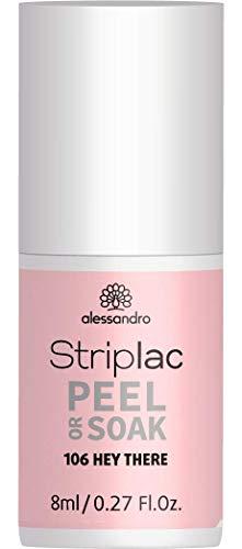 alessandro Striplac Peel or Soak Hey There – LED-Nagellack in leichtem Puder-Pink – Für perfekte Nägel in 15 Minuten – 1 x 8ml