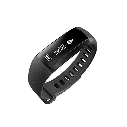 Weekendy Blutdruck-Sauerstoff-Überwachung Schlaf-Herzfrequenz-Überwachung Armband Elektronisches Armband Intelligente Erinnerung Müdigkeit Überwachung Schritt Kalorien, Black-OneSize